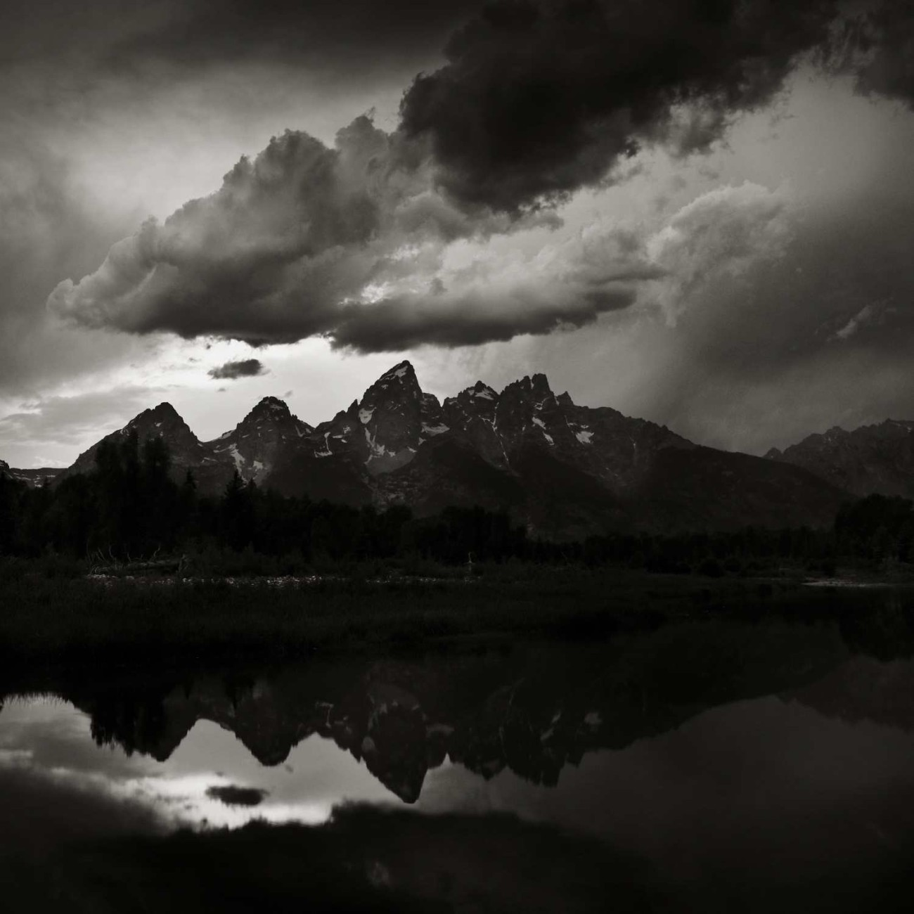 Storm clouds over the Grand Tetons, Wyoming, 2009