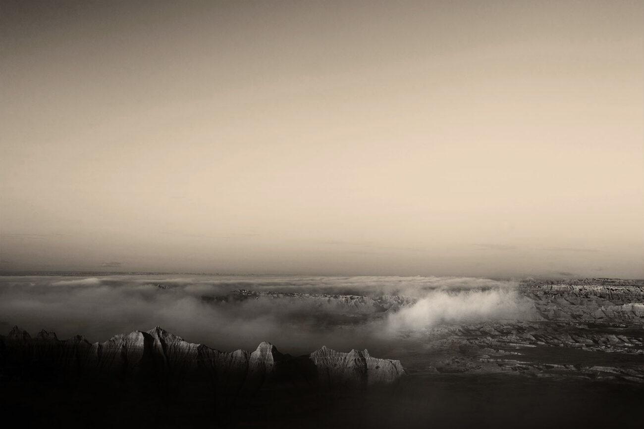 Badlands and lifting fog, 2010