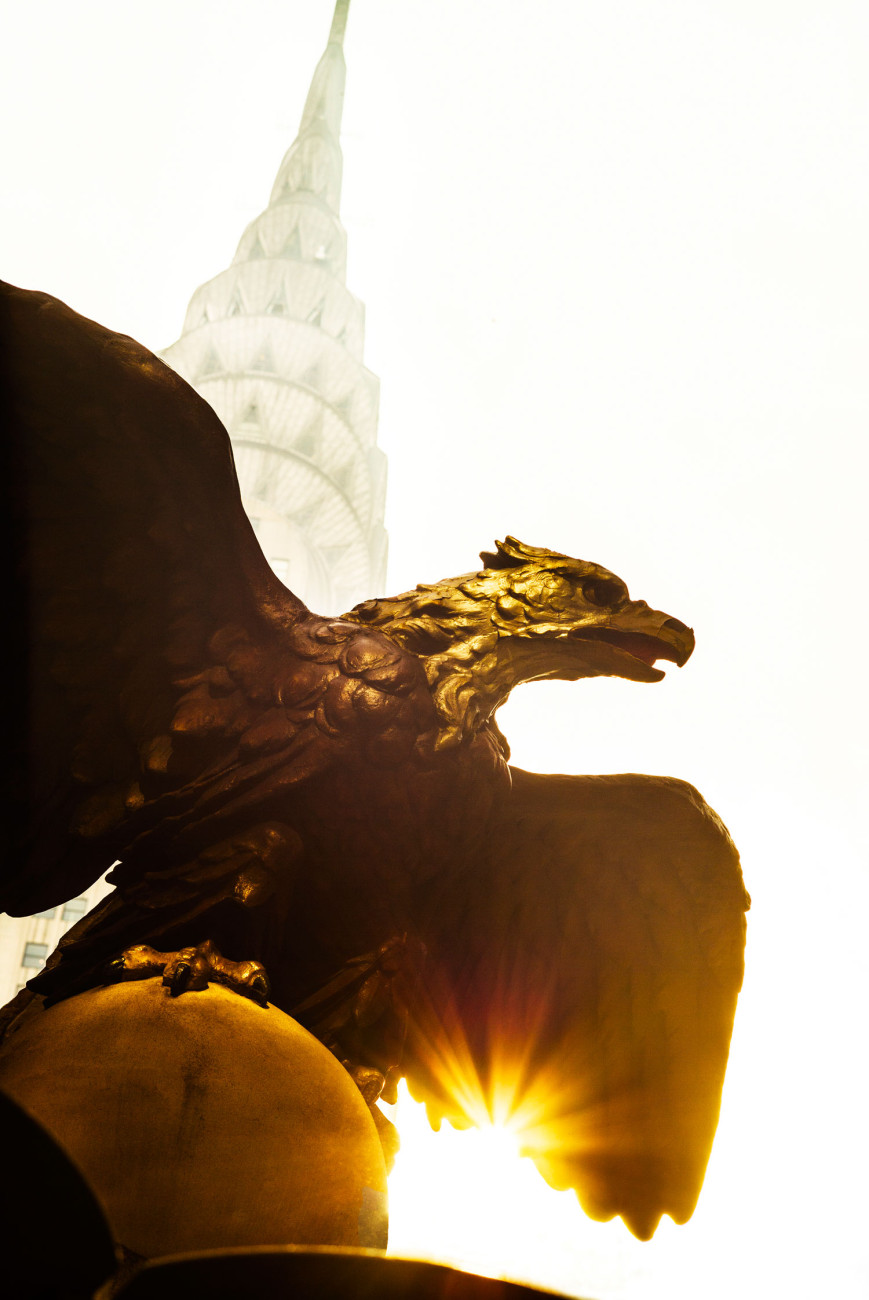 Eagle Statue and Chrysler Building, NY, 2013