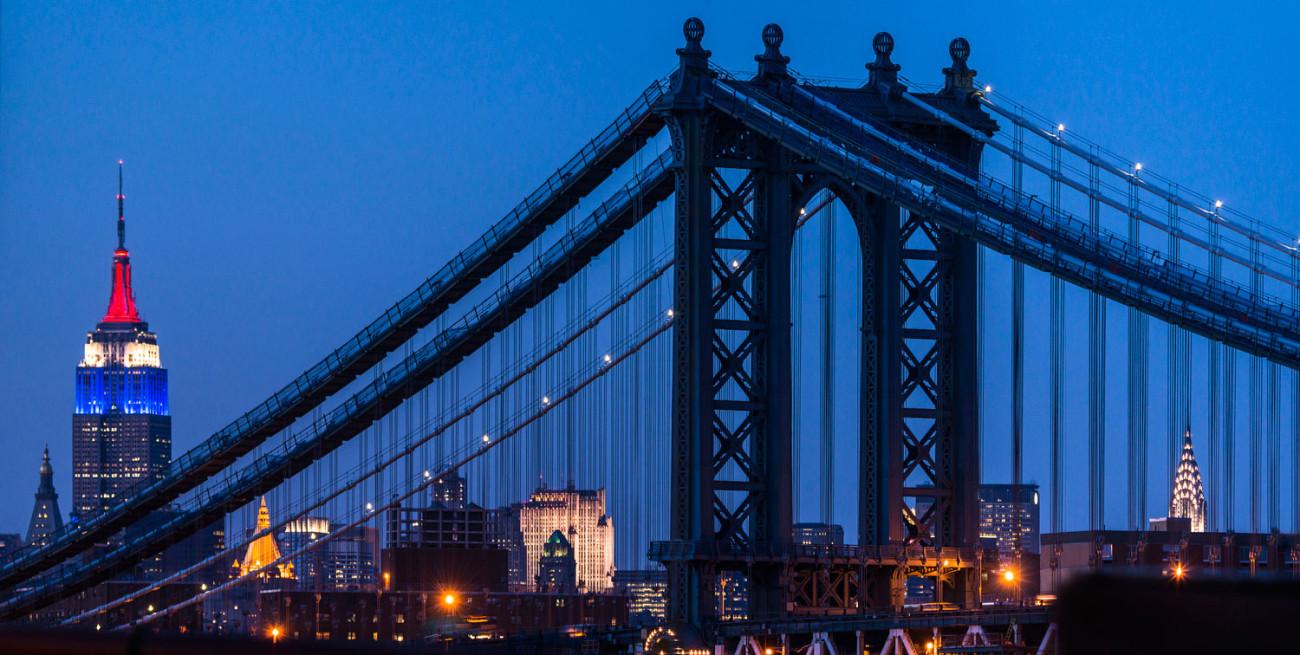 City icons and the Manhattan Bridge, NY, 2013