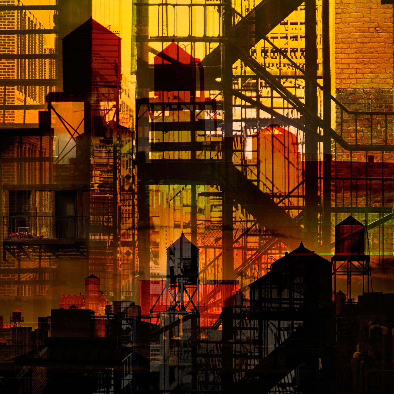 Metropolis - Alleys and rooftops a hidden city, NY, 2015
