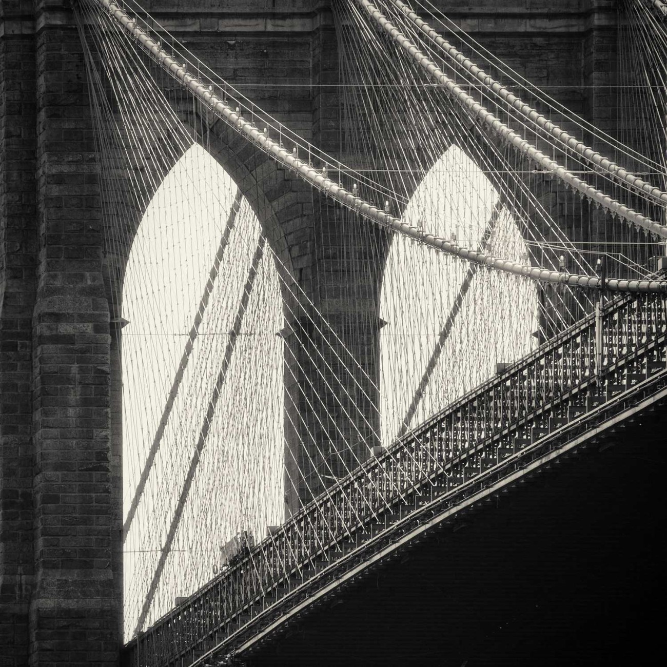 Brooklyn Bridge and cables, New York, 2013