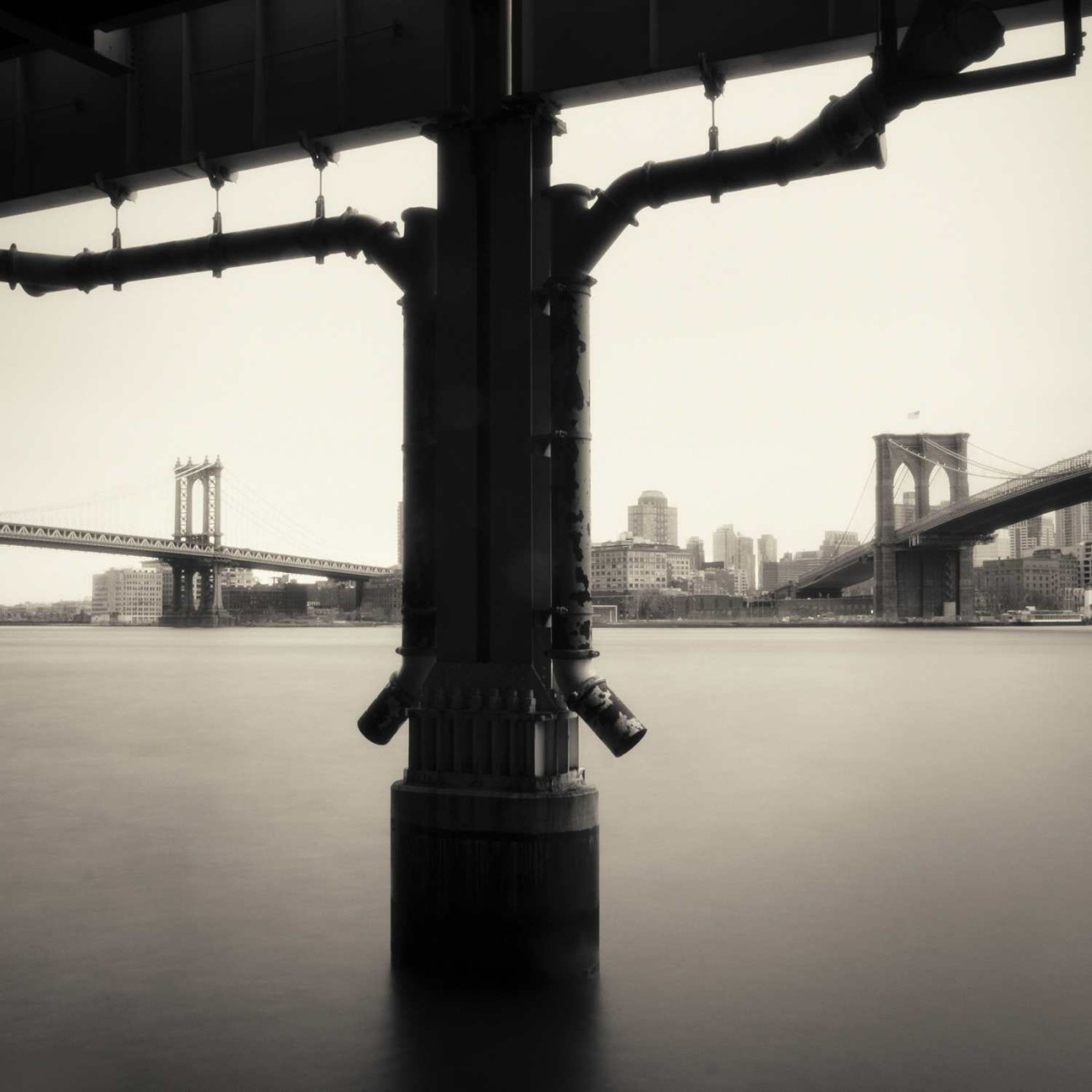 Manhattan and Brooklyn Bridges, New York, 2013