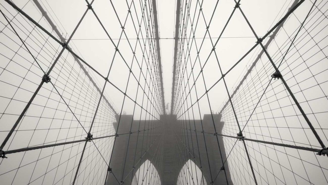 Brooklyn Bridge in fog, study 6, NY, 2014