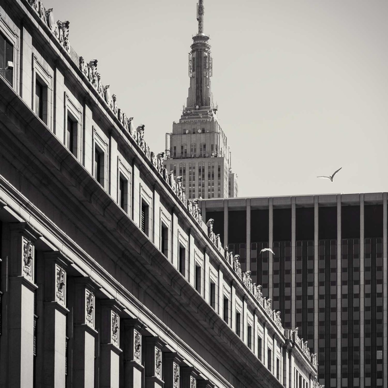 Empire State Building and post office building, New York, 2014