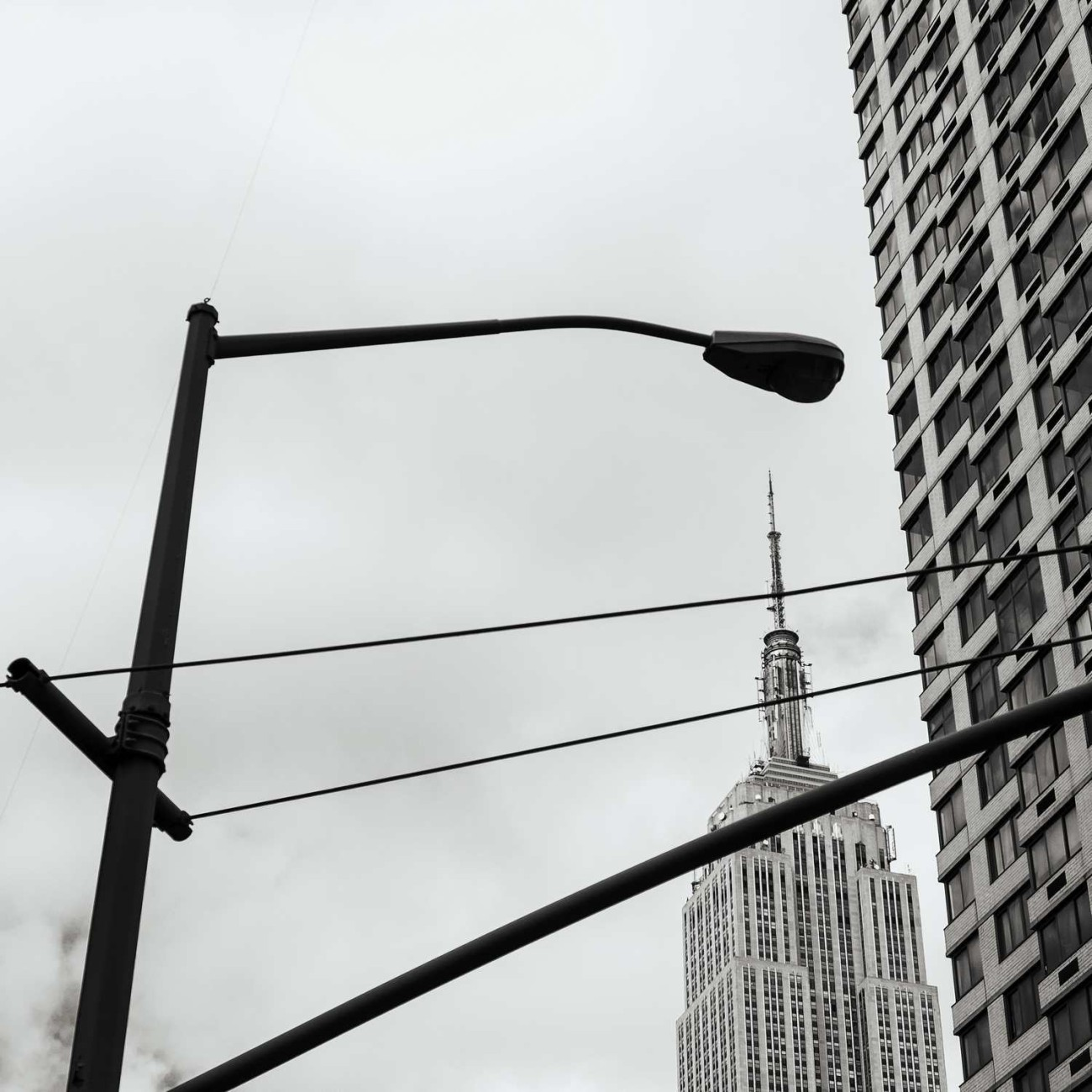 Empire State Building and lamp post, New York, 2014