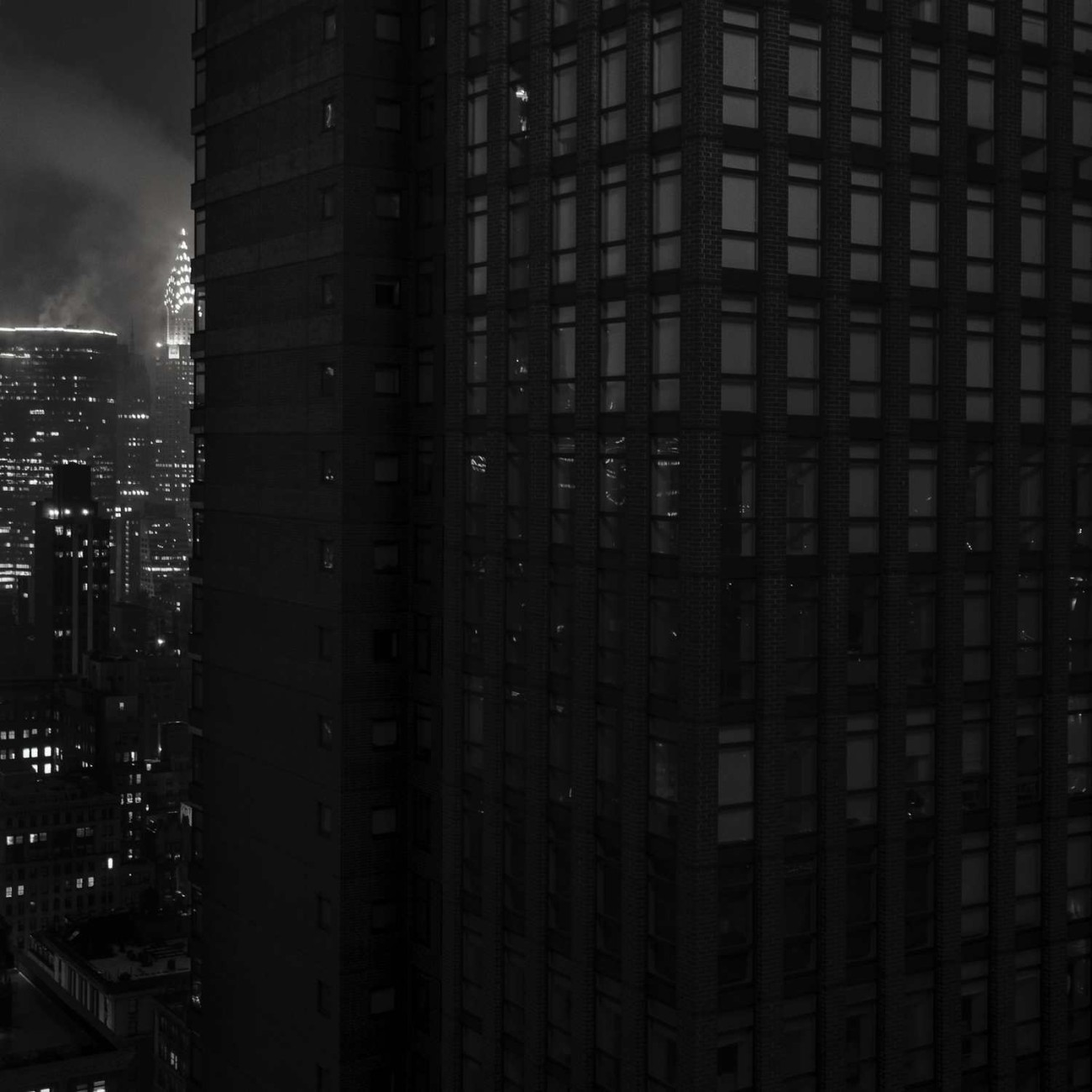 Chrysler Building on a cloudy night, New York, 2014