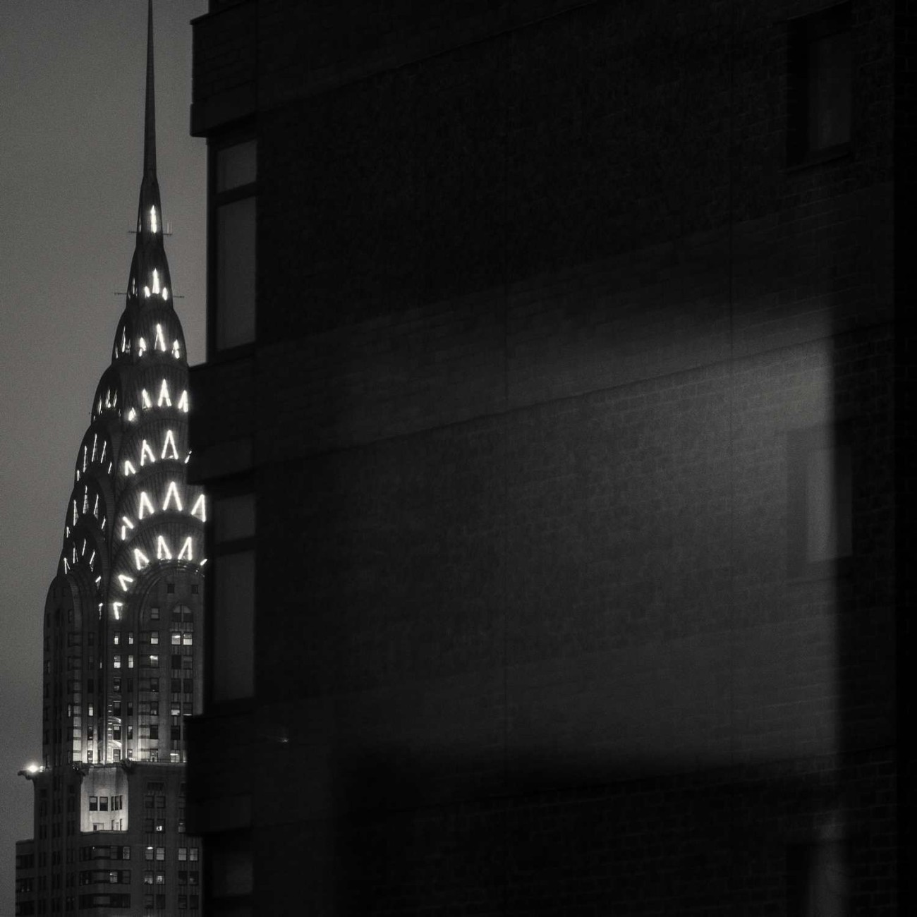 Top of the Chrysler Building at night, NY, 2015