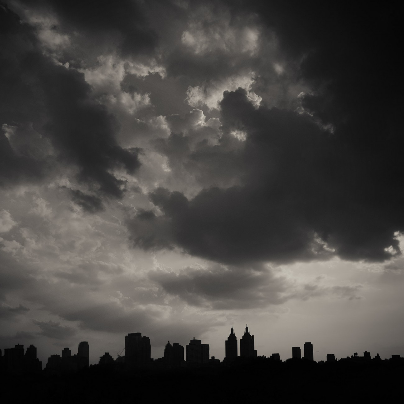 Clouds over Central Park, late afternoon, 2016