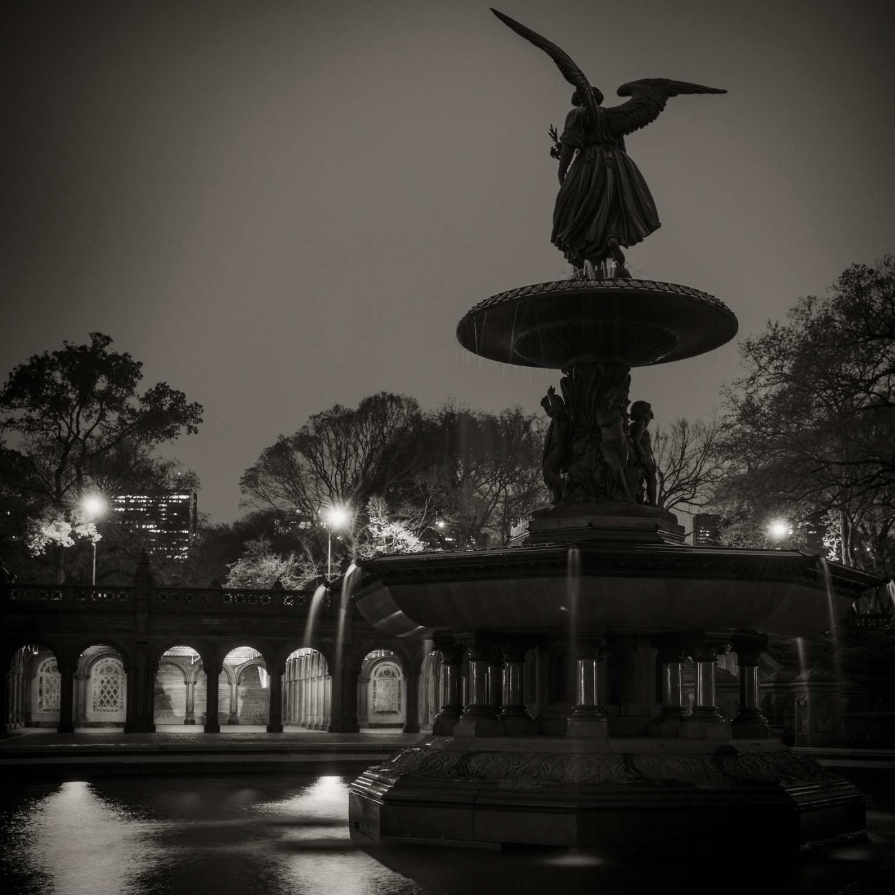 Bethesda Fountain night, Central Park, New York, 2013