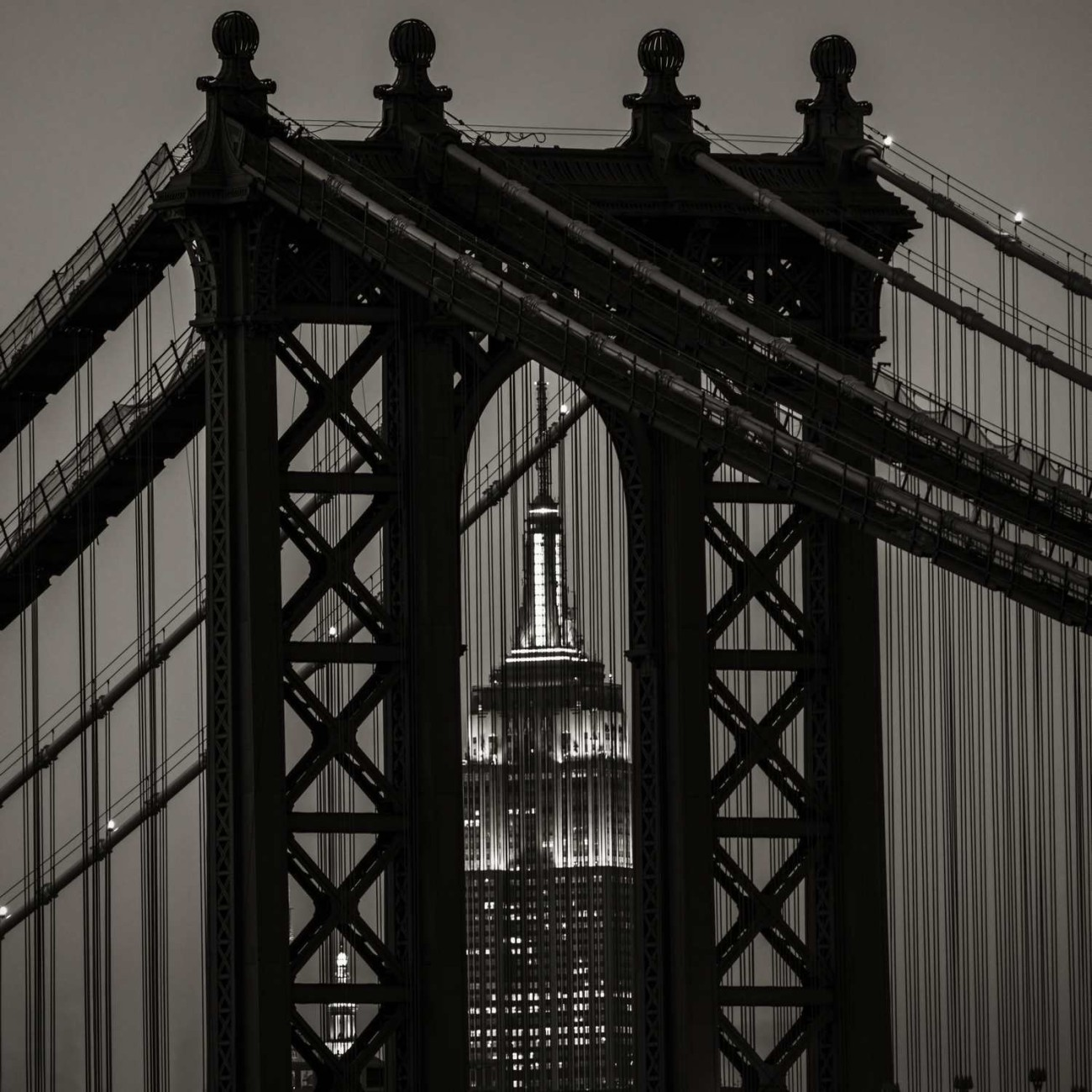 Empire State Building and Manhattan Bridge, New York, 2013