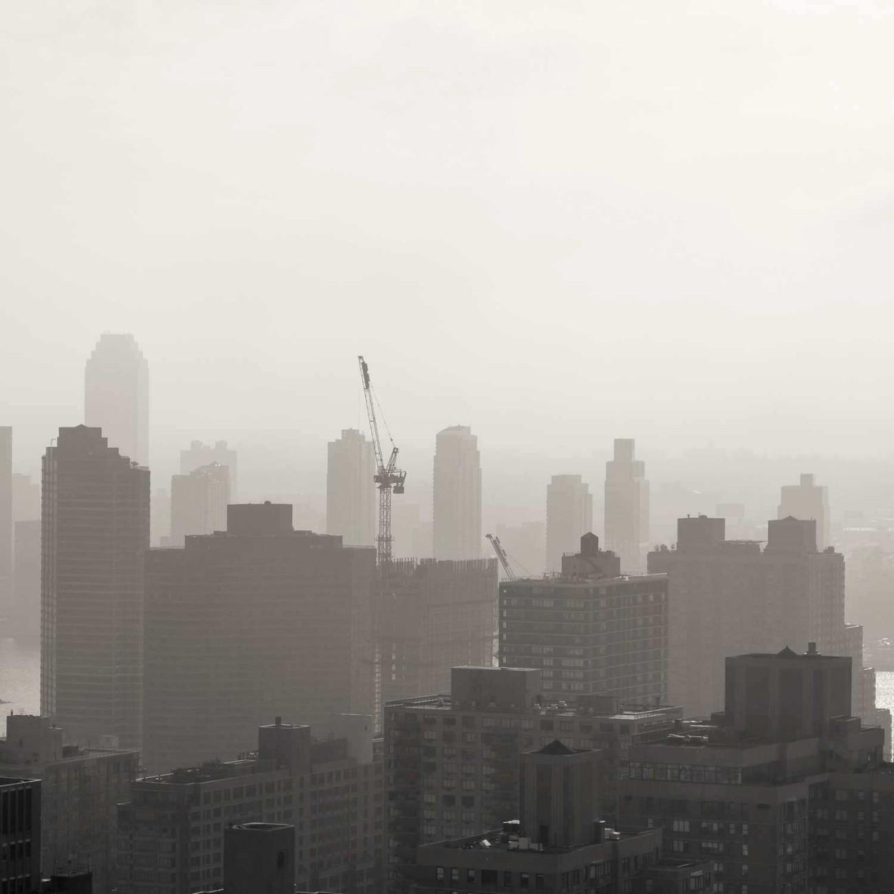 Morning haze along the East River, NY, 2015