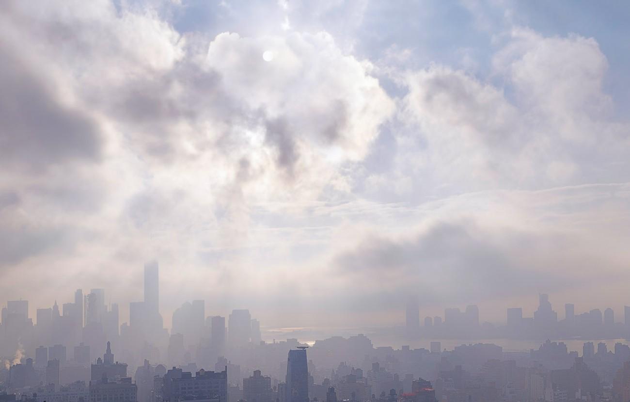 Lifting fog, NY, 2015