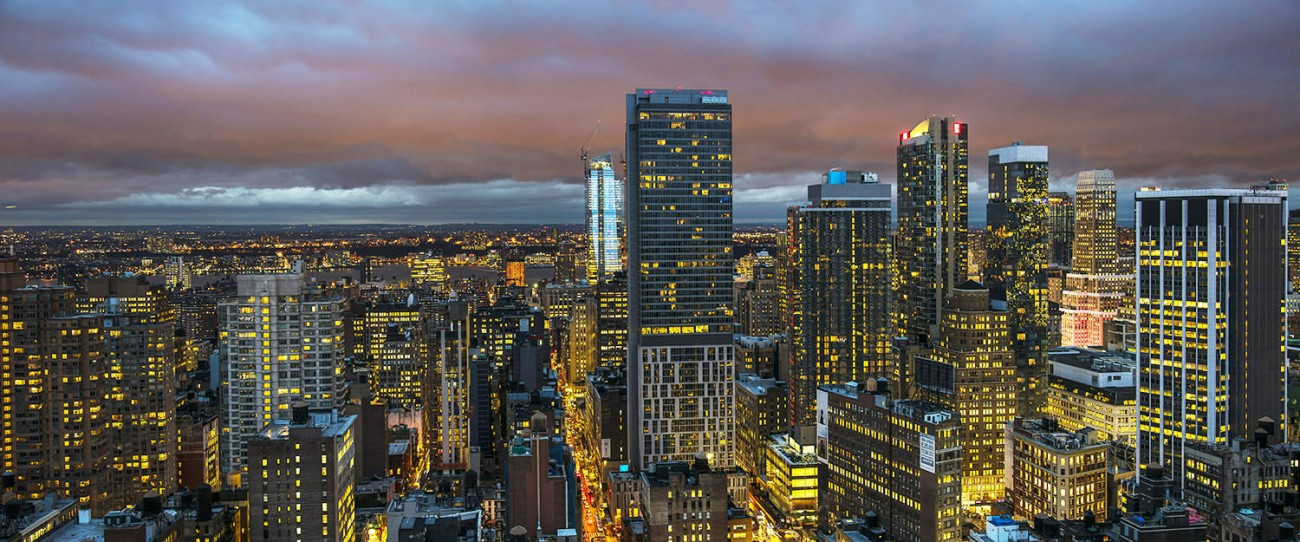 New York City towards Chelsea at sunset, 2016