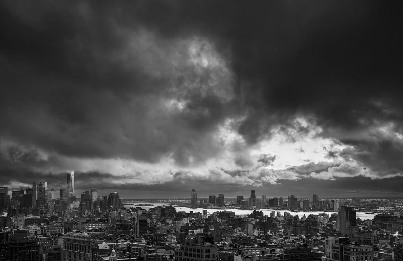 Departing storm clouds, Manhattan, 2016