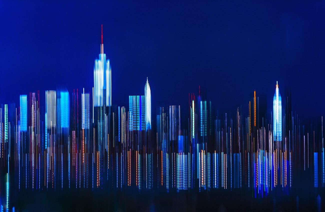 Midtown lights, NY, 2012
