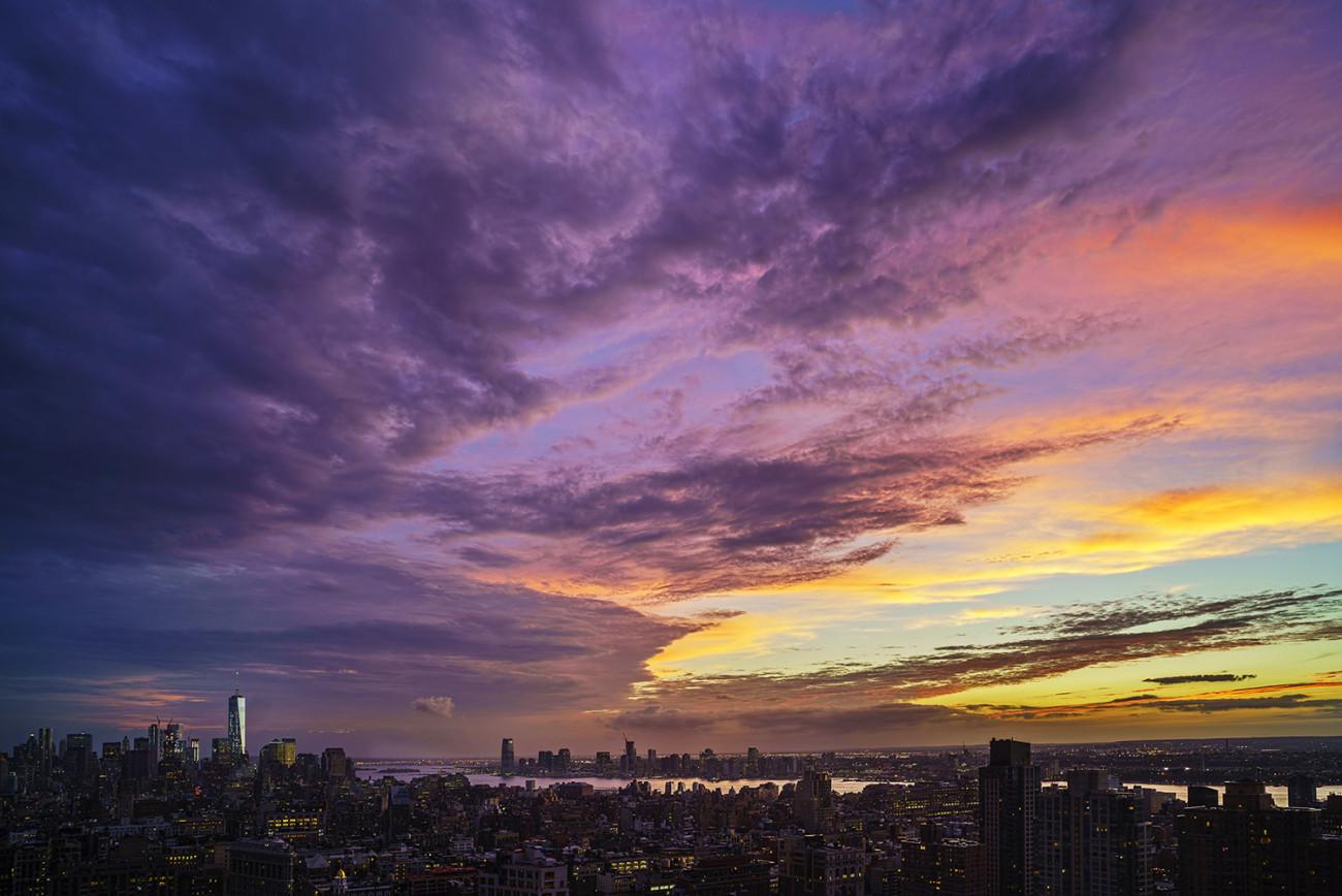 Turner sunset over lower Manhattan, NY, 2015