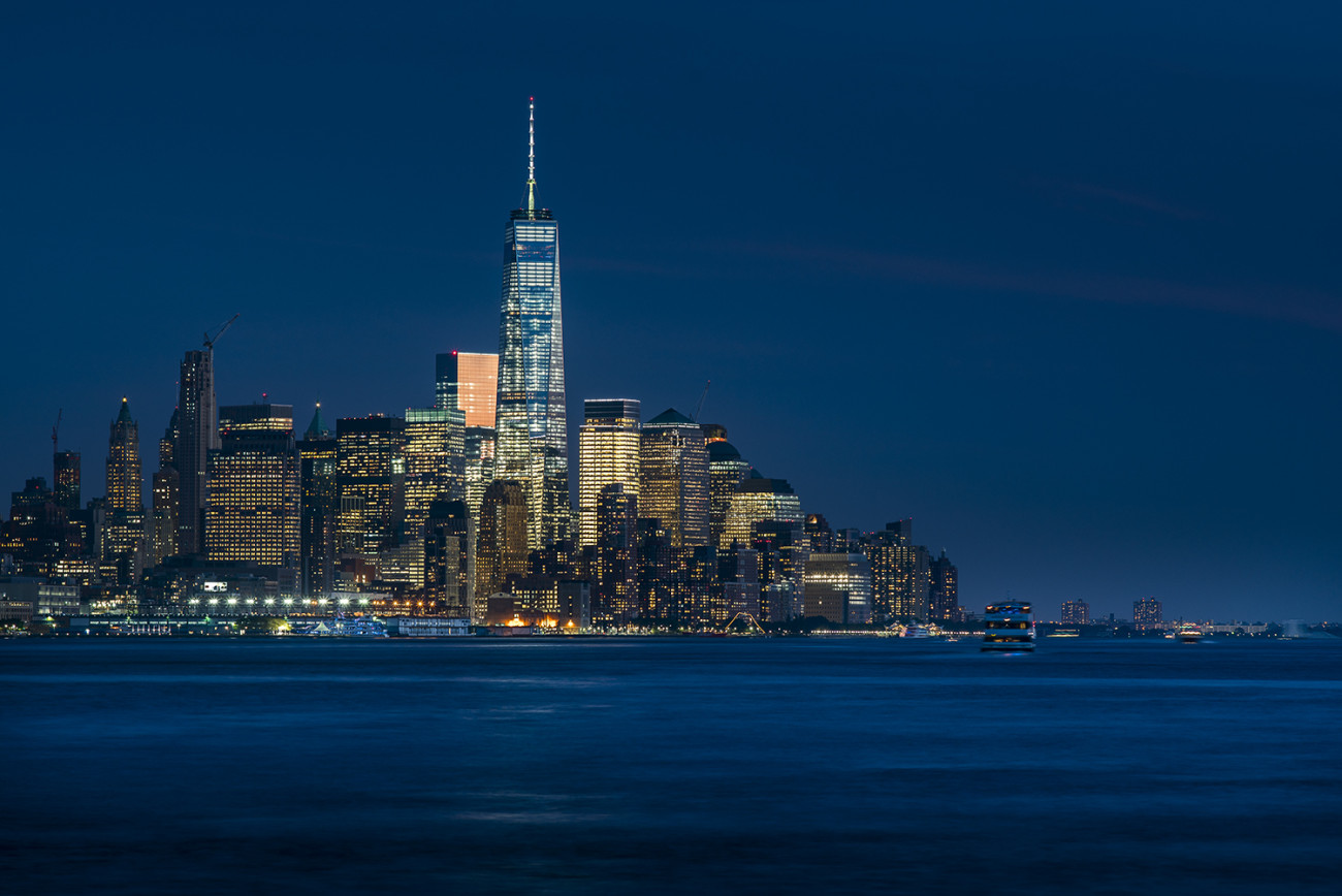 Lower Manhattan and Hudson River at night, 2015