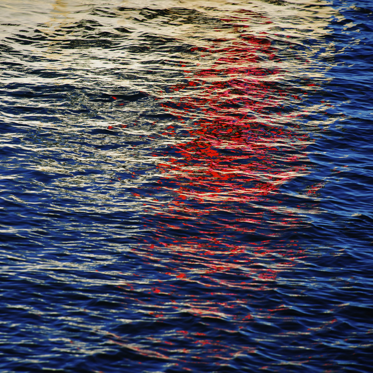 Red White and Blue ocean, Cape Cod, 2009