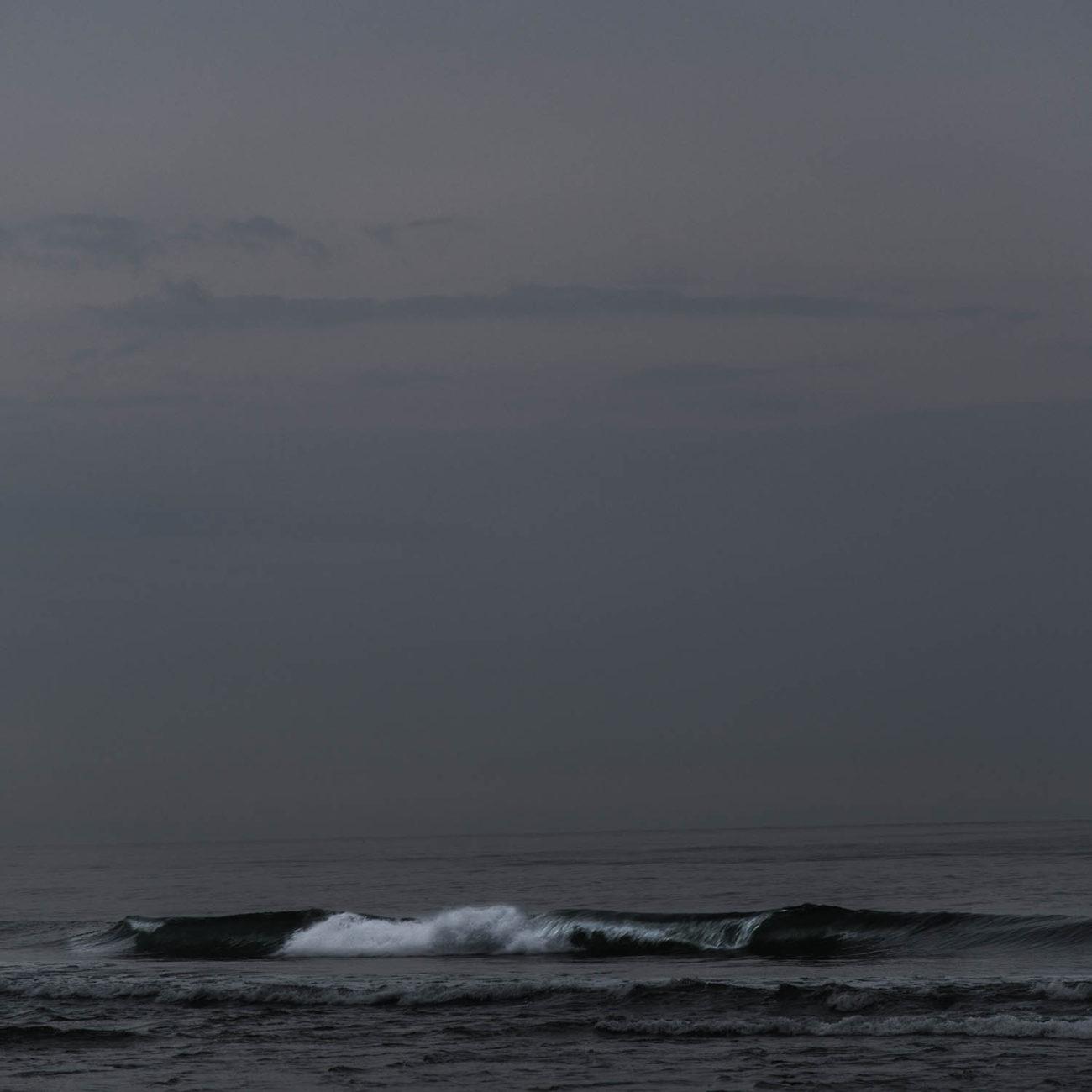 Calm sea before dawn, 2017