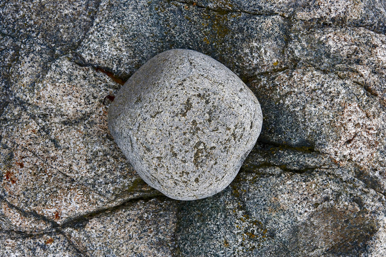 Nesting boulder, Acadia, Maine, 2005