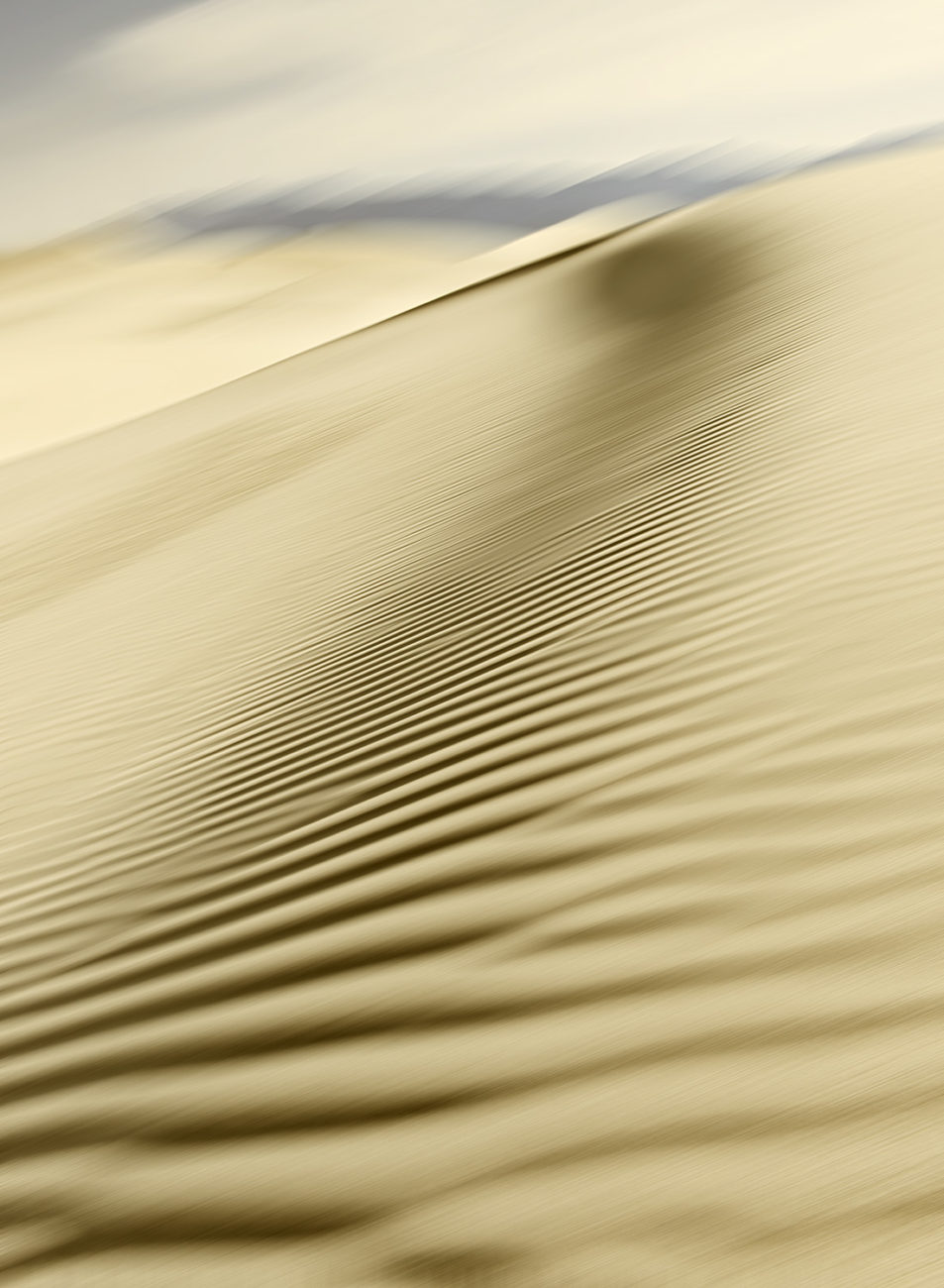 Shadow on the dunes, Death Valley, 2009