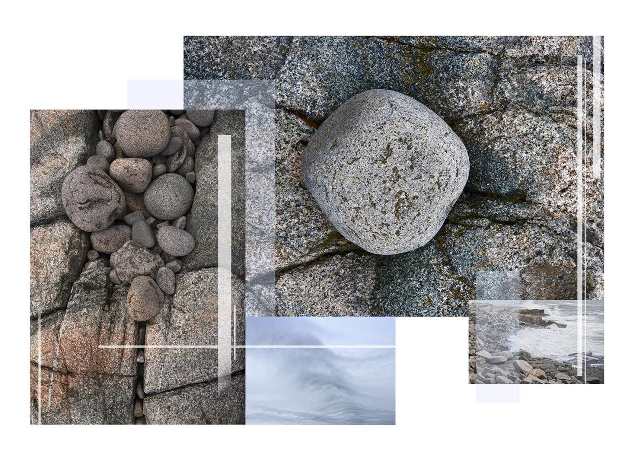 Maine coastal stones